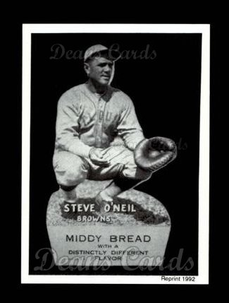 1927 Middy Bread Reprint #38  Steve O'Neil
