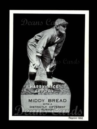 1927 Middy Bread Reprint #39  Harry Rice