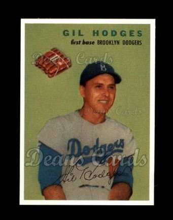 1954 Wilson Franks Reprint #9  Gil Hodges