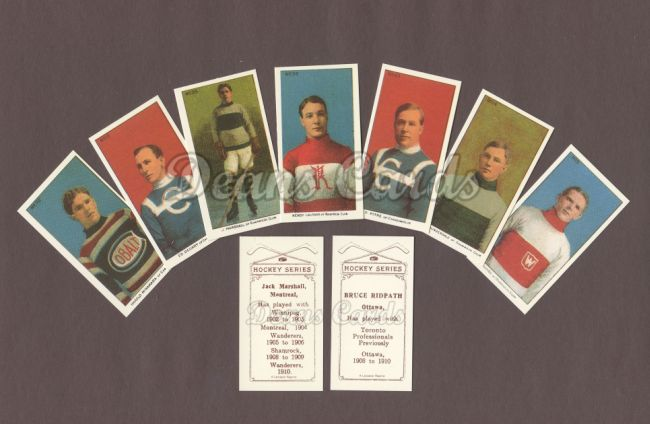 1911 Imperial Tobacco Reprint    Imperial Tobacco Hockey Series Reprint Complete Set