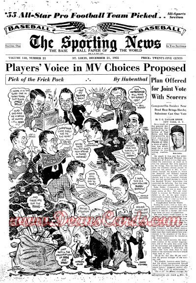 1955 The Sporting News   December 21  - Earl Torgeson / Willie Mays