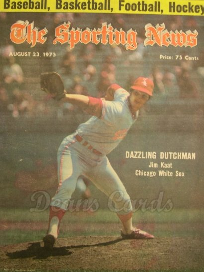 1975 The Sporting News   August 23  - Jim Kaat / Billy Martin New Yankee Manager