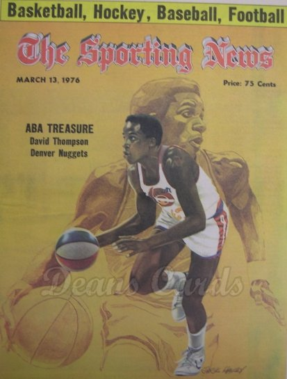 1976 The Sporting News   March 13  - David Thompson / Tommy Davis