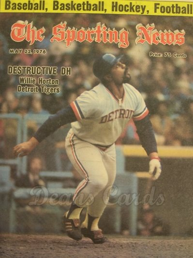 1976 The Sporting News   May 22  - Willie Horton / Johnny Bench