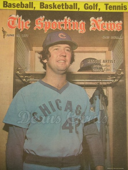 1977 The Sporting News   June 25  - Bruce Sutter / Dave Concepcion