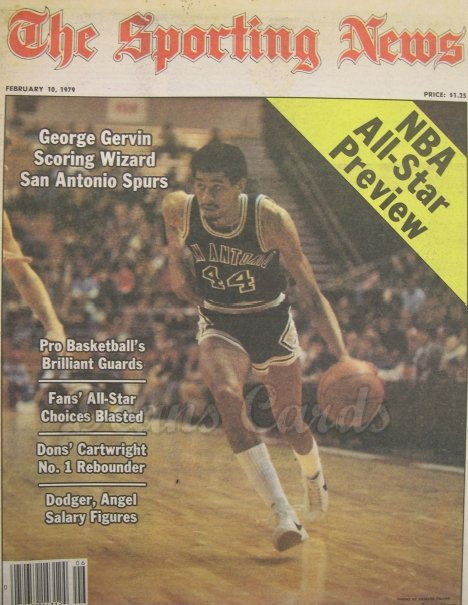 1979 The Sporting News   February 10  - George Gervin / Willie Mays