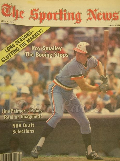 1979 The Sporting News   July 7  - Roy Smalley / Jim Palmer