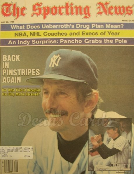 5/20/1985 - Billy Martin, Jose Canseco , Sporting News ,