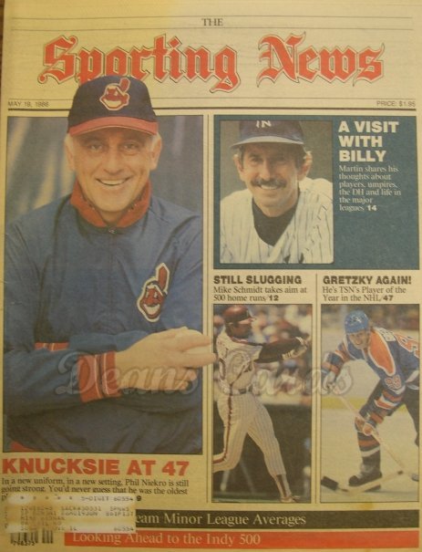 5/19/1986 - Phil Niekro. Mike Schmidt. Billy Martin , Sporting N