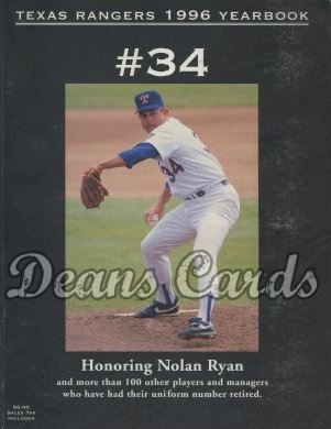 1996 Texas Rangers Yearbook - Nolan Ryan