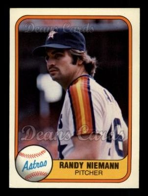1981 Fleer #77  Randy Niemann