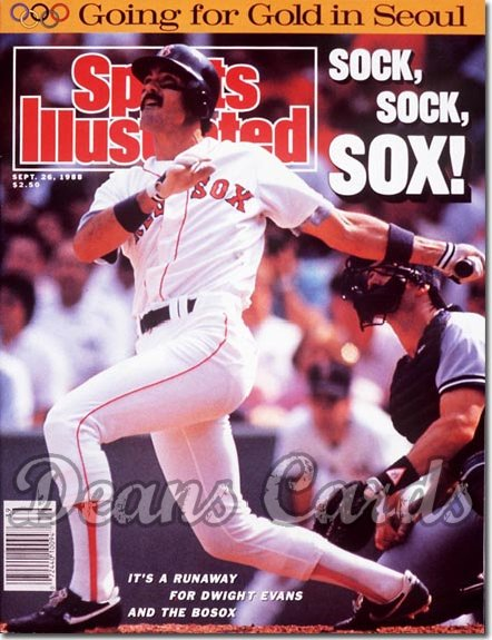 1988 Sports Illustrated - No Label   September 26  -  Dwight Evans (Boston Red Sox)
