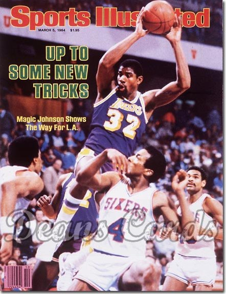 1984 Sports Illustrated - With Label   March 5  -  Magic Johnson (Los Angeles)