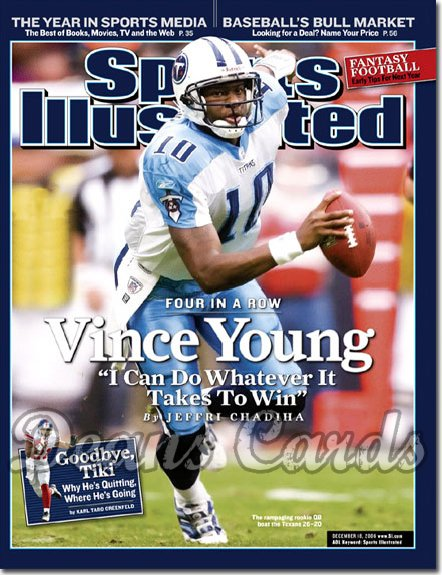 2006 Sports Illustrated   December 18  -  Vince Young Tennessee Titans