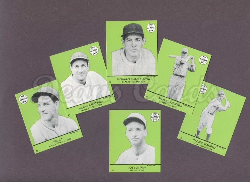 1941 Goudey Reprint    Goudey Green Reprint Complete Set