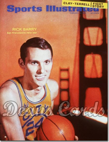 1967 Sports Illustrated - With Label   February 13  -  Rick Barry (Golden State Warriors) (1st cover)