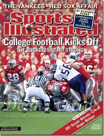 2003 Sports Illustrated   September 8  -  Craig Krenzel Ohio State Buckeyes