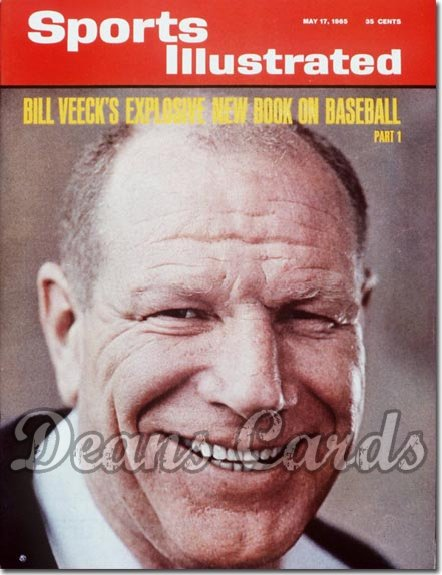 1965 Sports Illustrated   May 17  -  Bill Veeck Chicago White Sox
