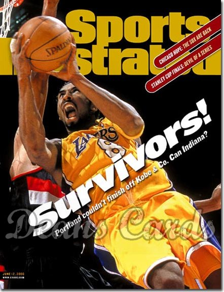 2000 Sports Illustrated - With Label   June 12  -  Kobe Bryant (LA Lakers)
