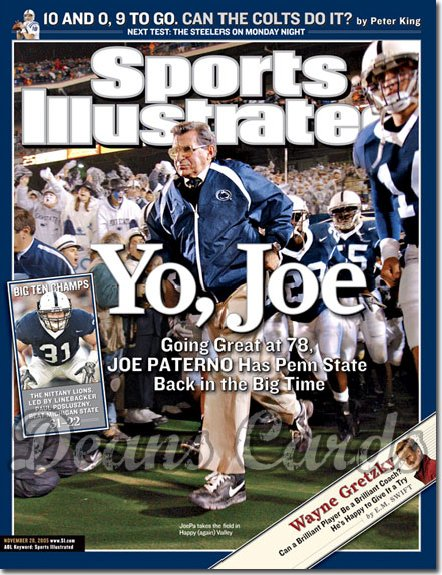 2005 Sports Illustrated   November 28  -  Joe Paterno Penn State