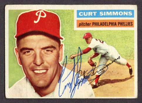 1956 Topps #290  Curt Simmons