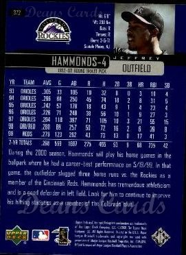 2000 Upper Deck #372  Jeffrey Hammonds