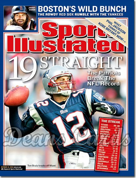 2004 Sports Illustrated   October 18  -  Tom Brady New England Break NFL Record