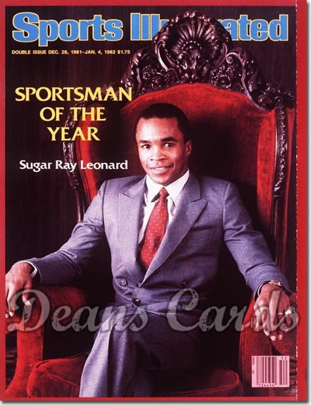 1981 Sports Illustrated - With Label   December 28  -  Sugar Ray Leonard (Sportsmanofthe Year)