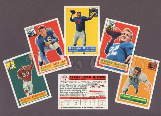1956 Topps Archives    Topps Football Archives Complete Set