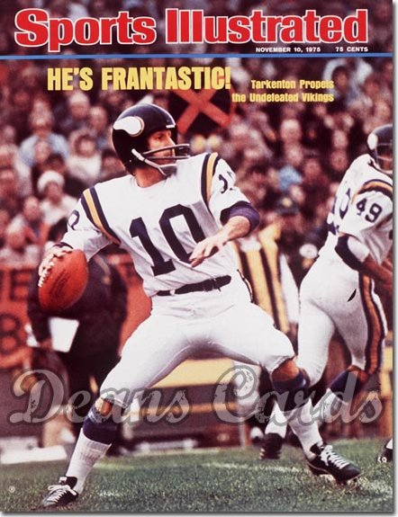 1975 Sports Illustrated - With Label   November 10  -  Fran Tarkenton (Minnesota Vikings)