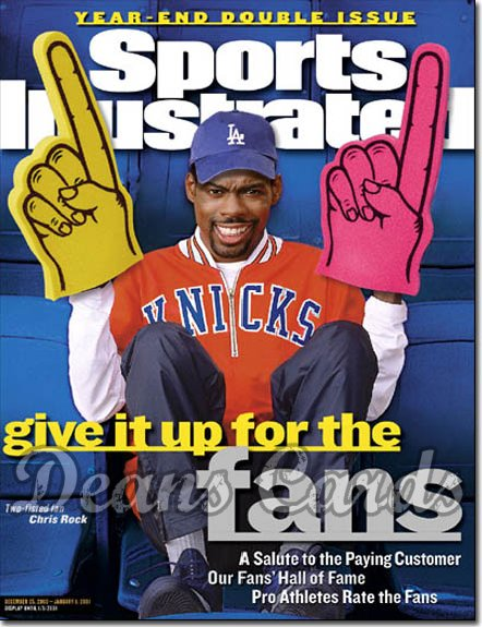 2000 Sports Illustrated - With Label   December 25  -  Chris Rock NY Knicks & LA Dodgers