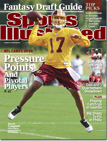 2009 Sports Illustrated - With Label   August 10  -  Jason Campbell