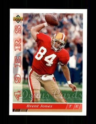 1993 Upper Deck #382  Brent Jones