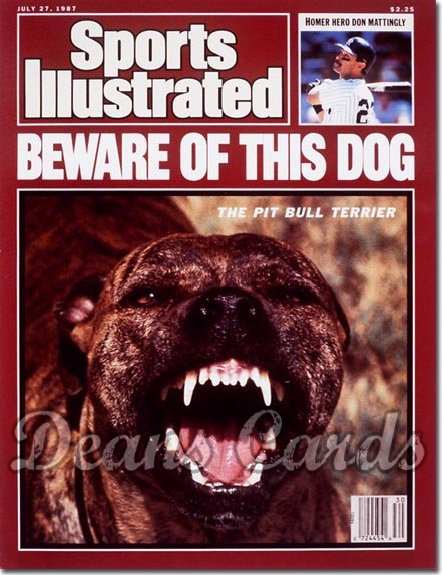 1987 Sports Illustrated - With Label   July 27  -  Pit Bull Terrier