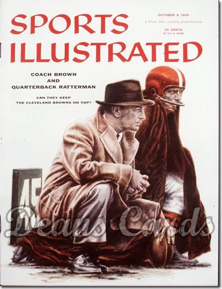 1956 Sports Illustrated   October 8  -  Paul Brown & George Ratterman Browns