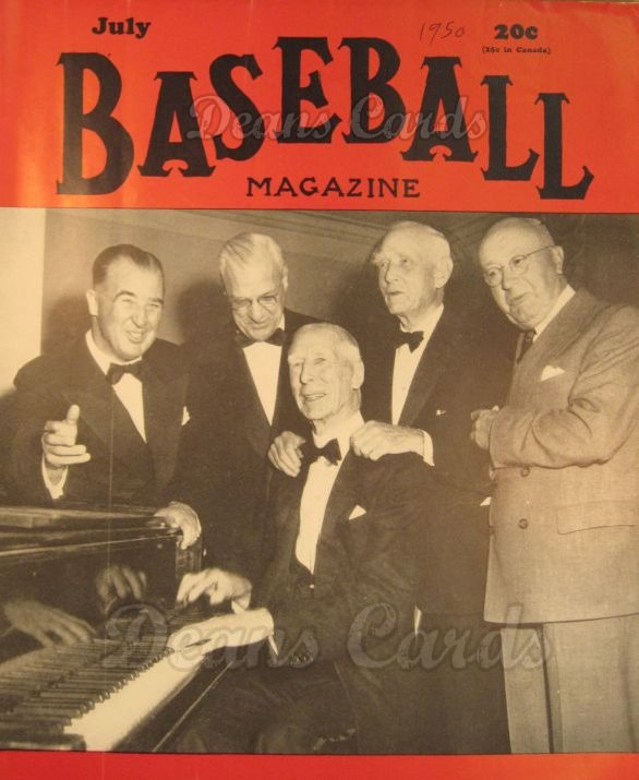 1950 Baseball Magazine    July