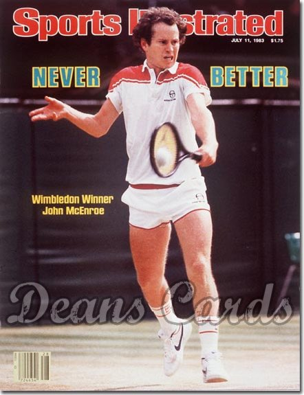1983 Sports Illustrated - With Label   July 11  -  John McEnroe