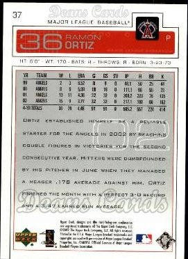 2003 Upper Deck #37  Ramon Ortiz