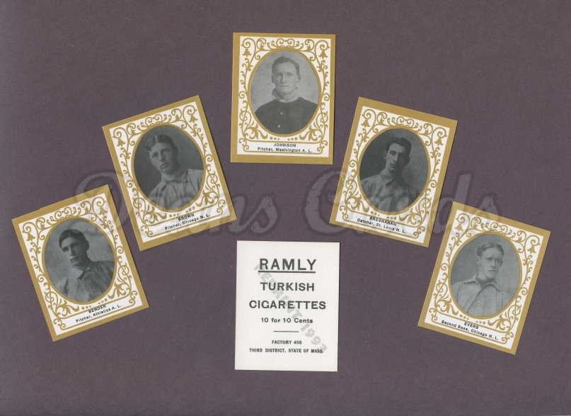 1909 Ramly Reprint    T204 Ramly Cigarettes Reprint Complete Set