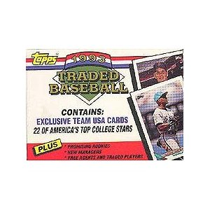 1993 Topps     Baseball Traded Factory Sealed Complete Set