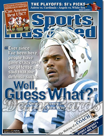 2005 Sports Illustrated   October 17  -  Dwight Freeney Indianapolis Colts
