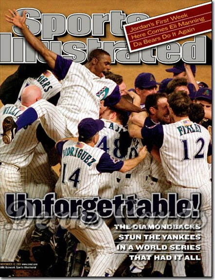 2001 Sports Illustrated - With Label   November 12  -  Arizona Diamondbacks World Series Champs