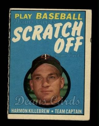 1970 Topps Scratch Offs #11  Harmon Killebrew