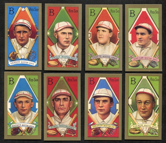 1911 T205 Reprint    T205 Gold Border REPRINT Boston Red Sox Team Set