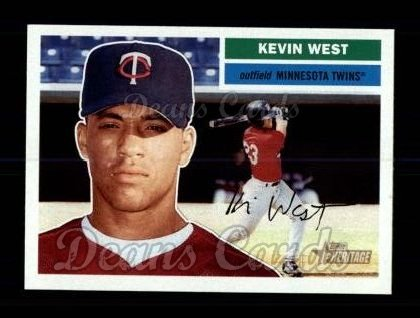 2005 Topps Heritage #396  Kevin West