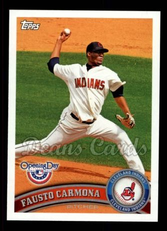 2011 Topps Opening Day #74  Fausto Carmona