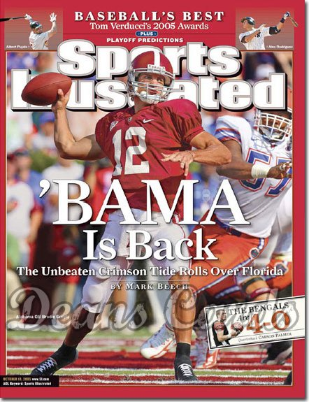 2005 Sports Illustrated   October 10  -  Brodie Croyle Alabama