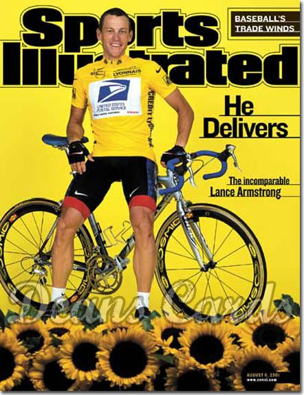 2001 Sports Illustrated - With Label   August 6  -  Lance Armstrong