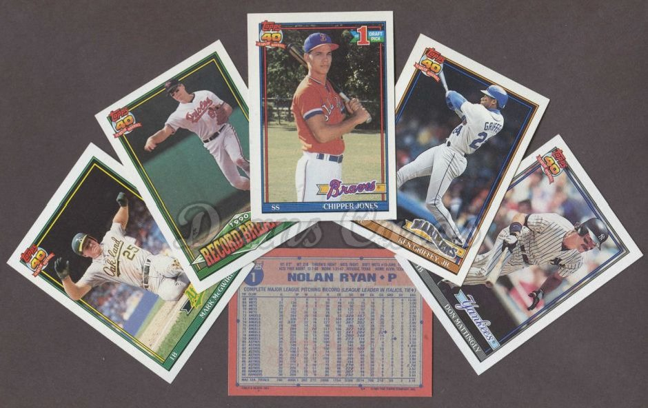 1991 Topps     Baseball Factory Sealed Complete Set
