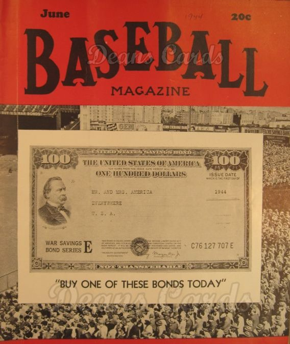 1944 Baseball Magazine    June